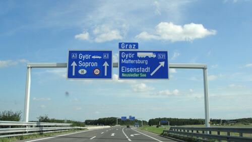 Geradeaus Richtung Sopron
